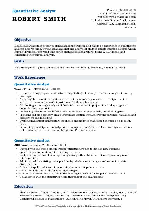 quantitative analyst resume samples qwikresume research pdf puppet linux nurse Resume Quantitative Research Resume