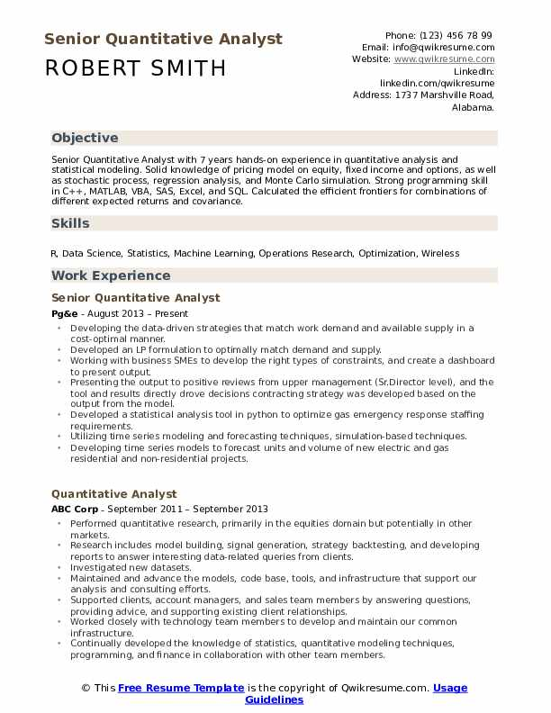 quantitative analyst resume samples qwikresume research pdf summary examples entry level Resume Quantitative Research Resume