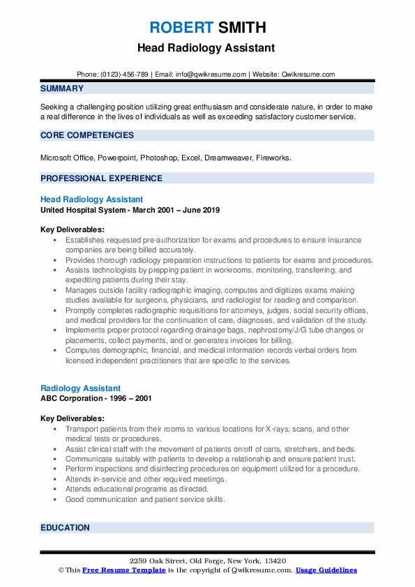 radiology assistant resume samples qwikresume radiologist duties and responsibilities pdf Resume Radiologist Duties And Responsibilities Resume
