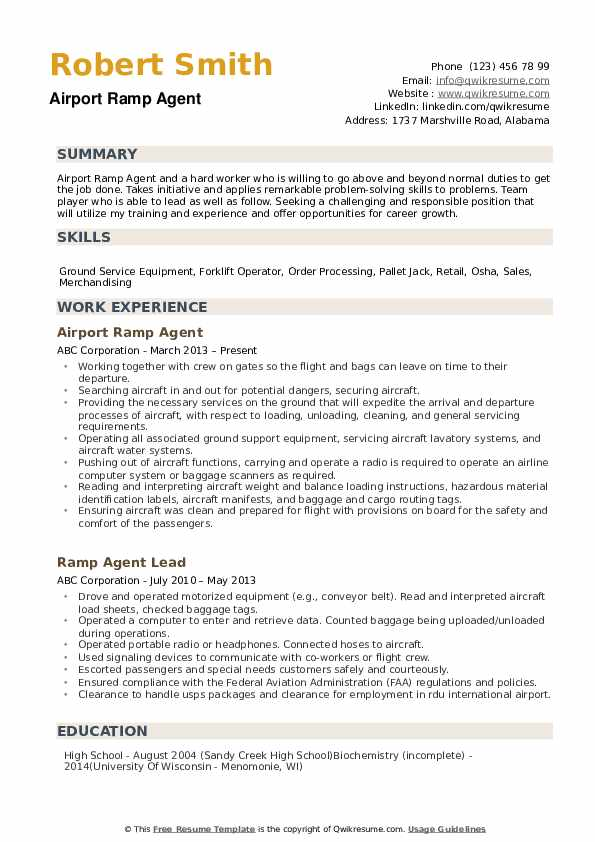 ramp agent resume samples qwikresume for airport pdf firefighter promotion chronological Resume Resume For Airport Ramp Agent