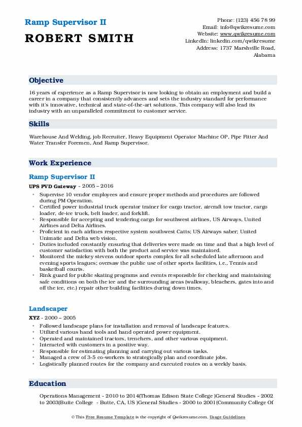 ramp supervisor resume samples qwikresume for airport agent pdf submit on indeed best Resume Resume For Airport Ramp Agent