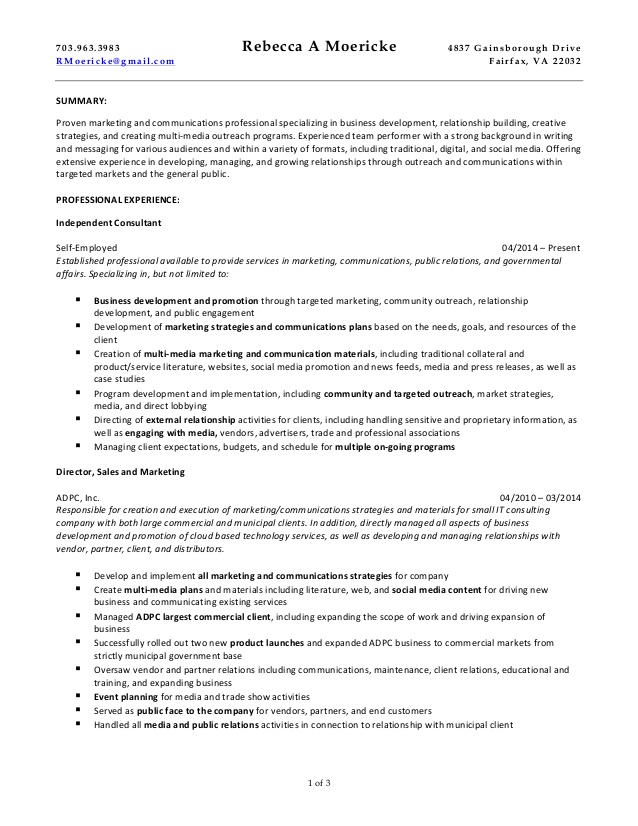 rebecca moericke marketing and communications consulting resume tongue quill template Resume Tongue And Quill Resume Template