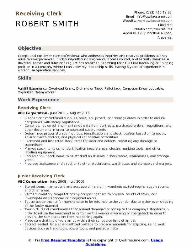 receiving clerk resume samples qwikresume job description pdf lose the land buyer sample Resume Receiving Clerk Job Description Resume