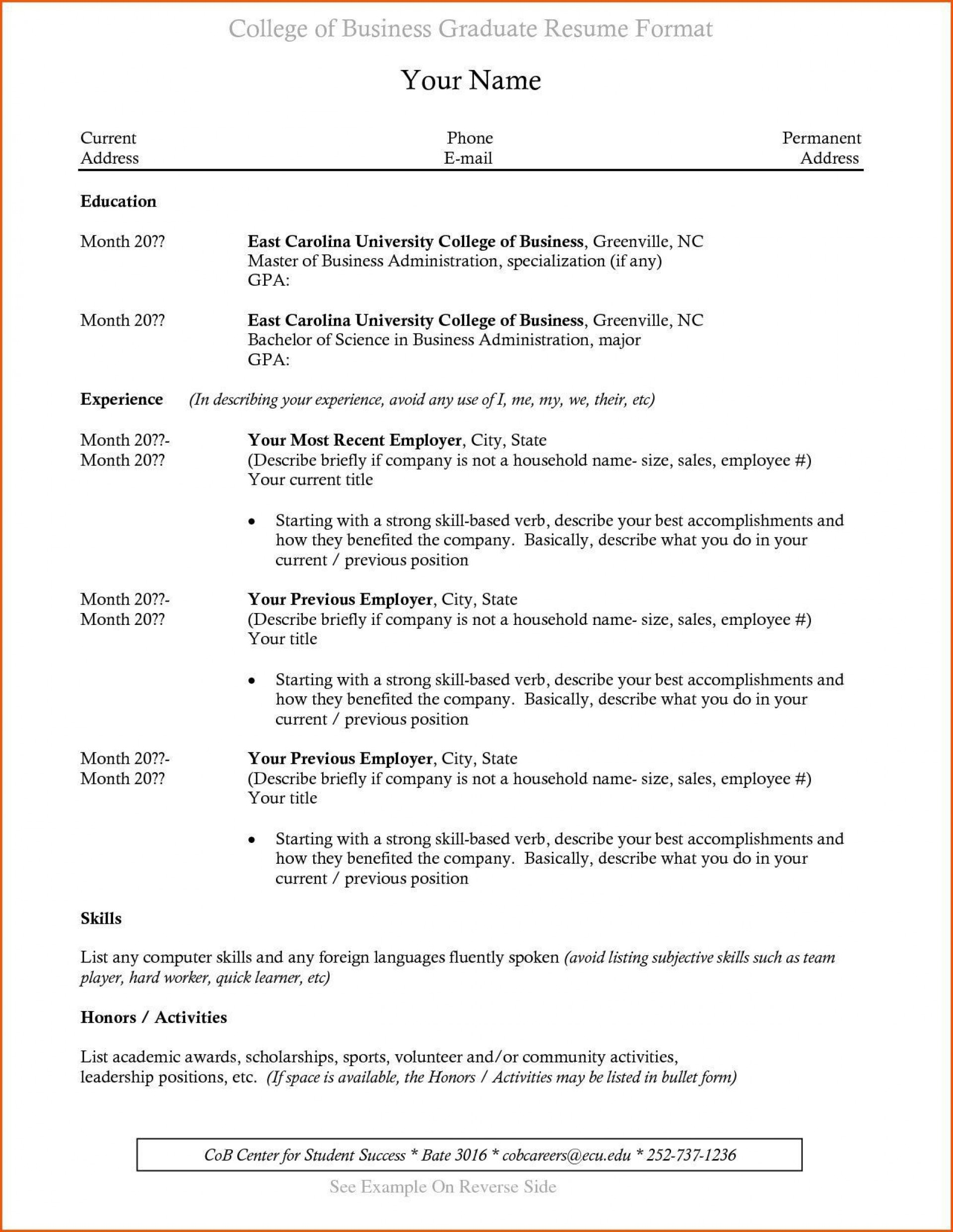 recent college graduate resume template addictionary format for incredible sample njit Resume Resume Format For Recent College Graduate