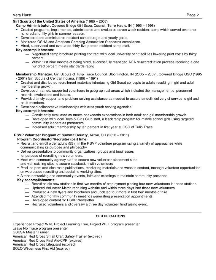 recreation manager resume linked in special accomplishments on rabbit customer service Resume Recreation Manager Resume