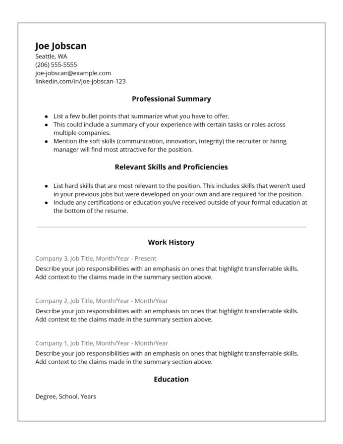recruiters hate the functional resume format here with one job history hybrid template Resume Resume With One Job History