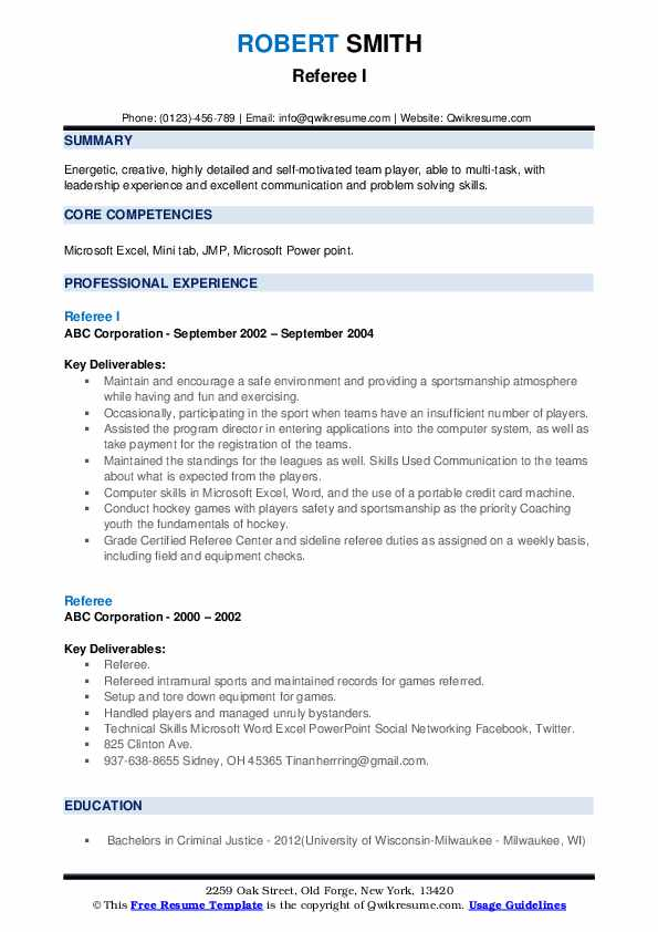 referee resume samples qwikresume job description pdf account clerk for writing format Resume Referee Job Description Resume