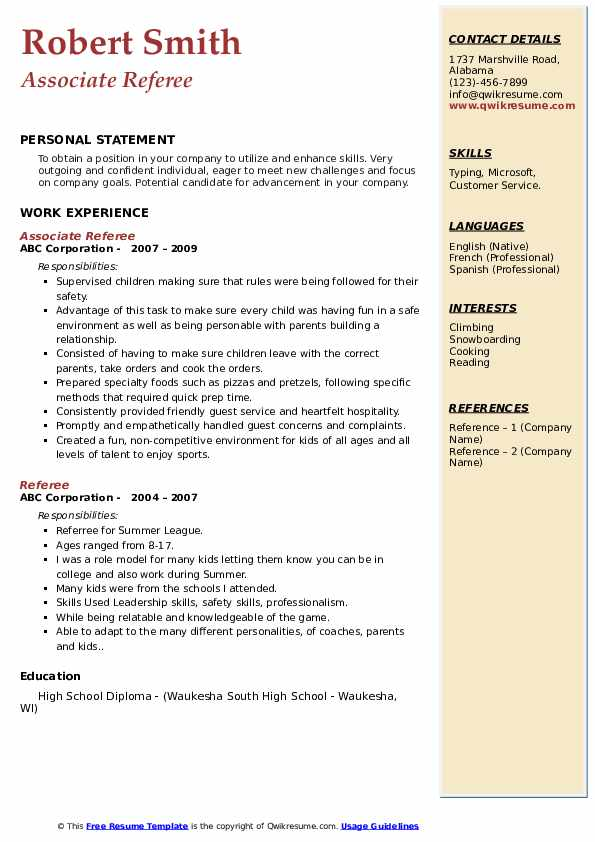 referee resume samples qwikresume job description pdf contract specialist cover letter Resume Referee Job Description Resume