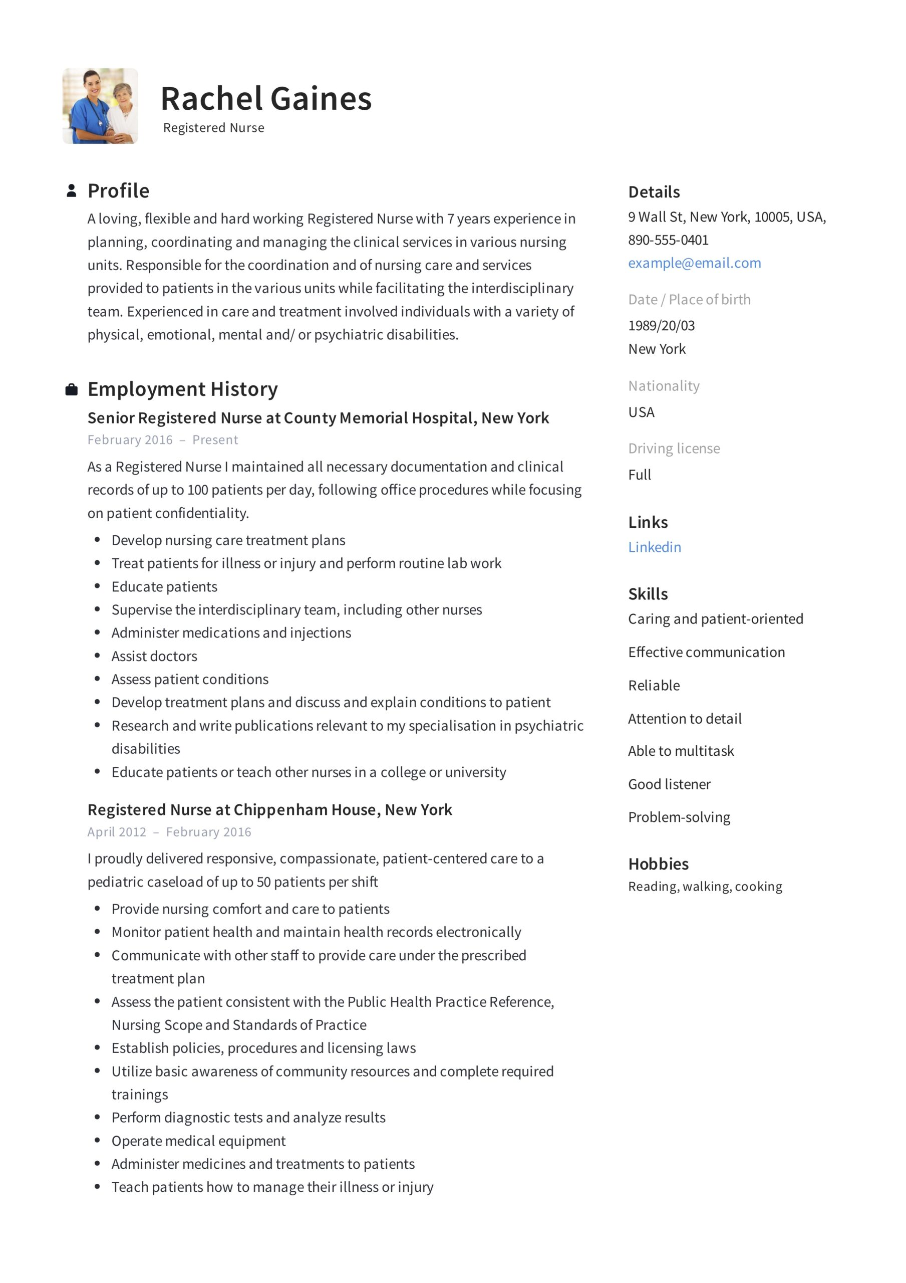 registered nurse resume sample writing guide samples pdf example technology account Resume Registered Nurse Resume Sample
