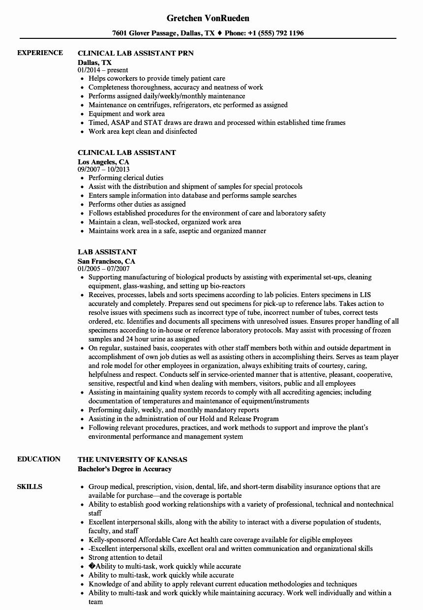 research assistant resume examples inspirational laboratory cv in medical objective Resume Laboratory Research Assistant Resume