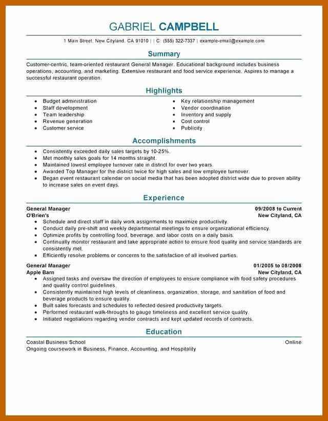 restaurant general manager resumes lovely resume examples in good job duties fast food Resume Restaurant General Manager Duties Resume