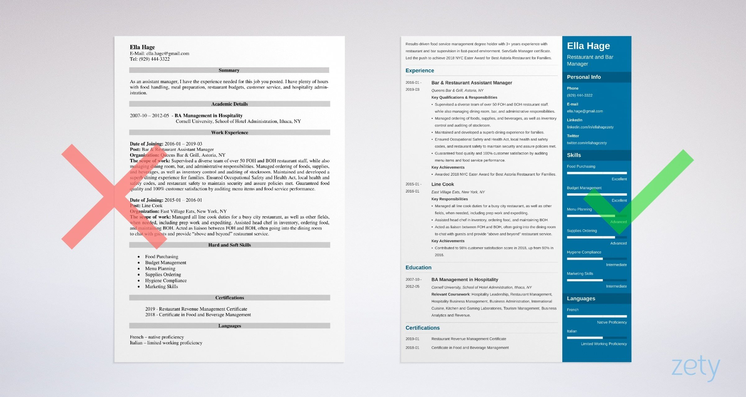 restaurant manager resume examples job description skills food service example personal Resume Food Service Manager Resume