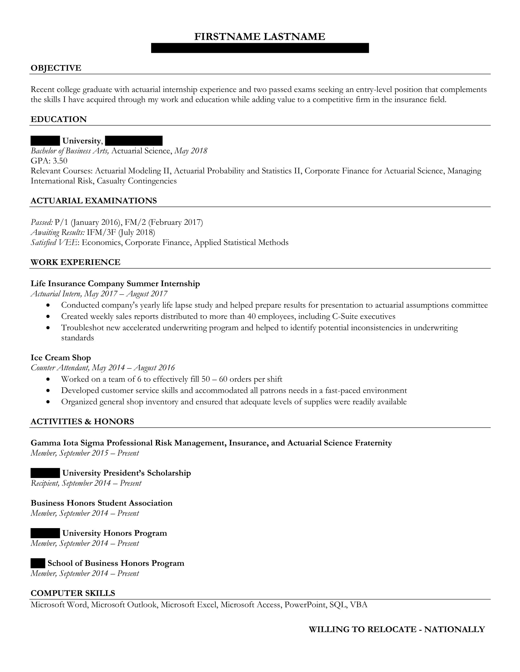 resume advice for college graduate seeking entry level position all criticism welcome Resume Resume For Fresh Graduate Seeking Any Job