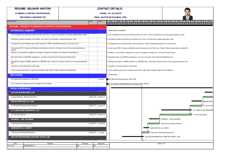 resume built using primavera p6 project planner planning controlp6 thumbnail safety Resume Primavera Project Planner Resume