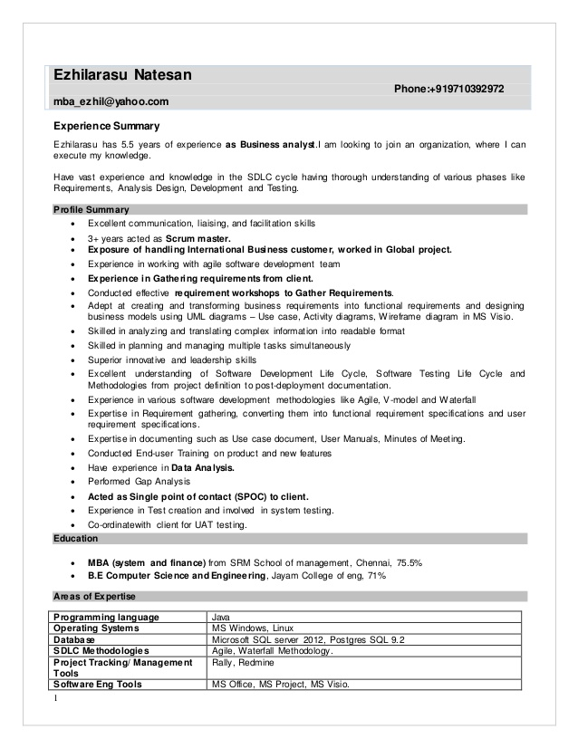 resume business analyst with testing experience former teacher sample new model format Resume Business Analyst Resume With Testing Experience