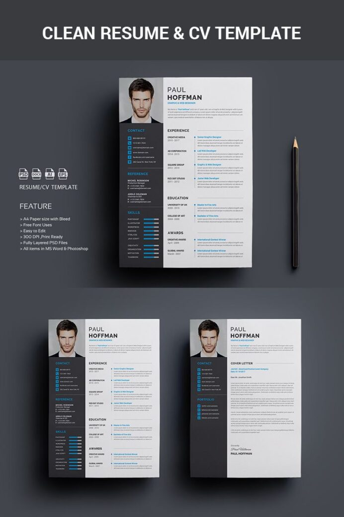 resume cv paul hoffman template creative free printable templates photoshop different Resume Free Resume Photoshop Templates