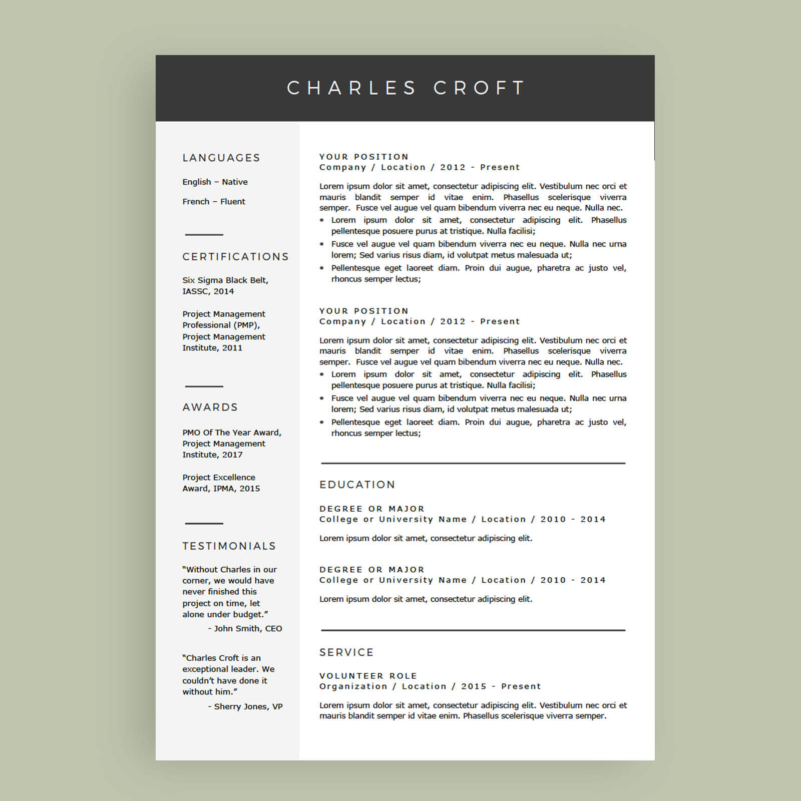 resume cv template package for microsoft word the charlie to write that get you interview Resume Resume Template Without Photo