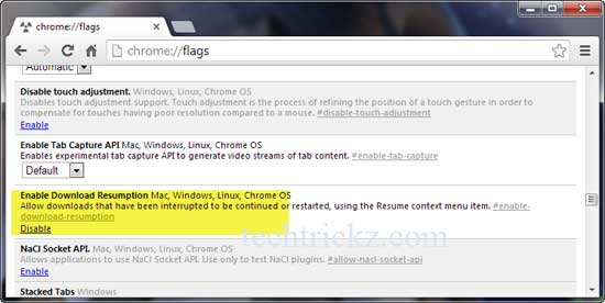 resume downloads in google chrome without external manager techtrickz relevant interests Resume Download Manager Resume Chrome