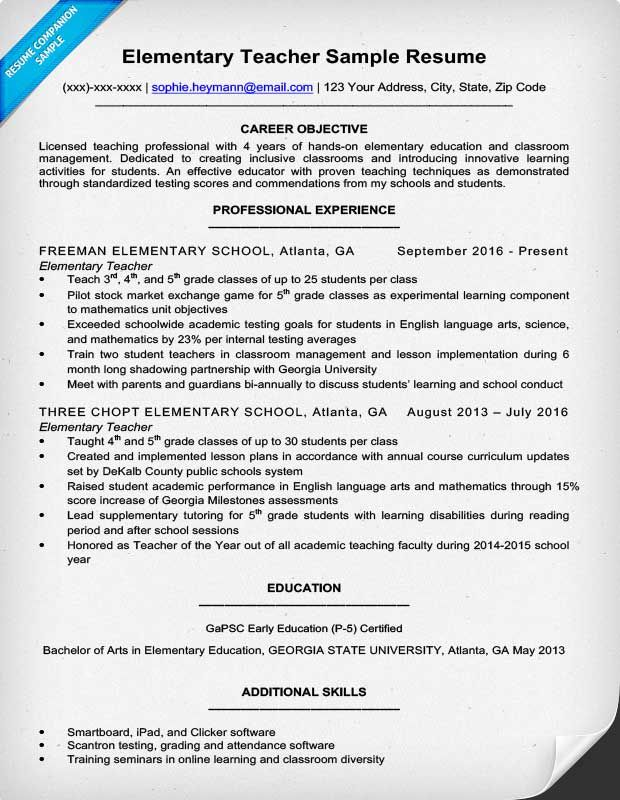 resume example for elementary teacher school licensed professional bld charge Resume Licensed Professional Teacher Resume