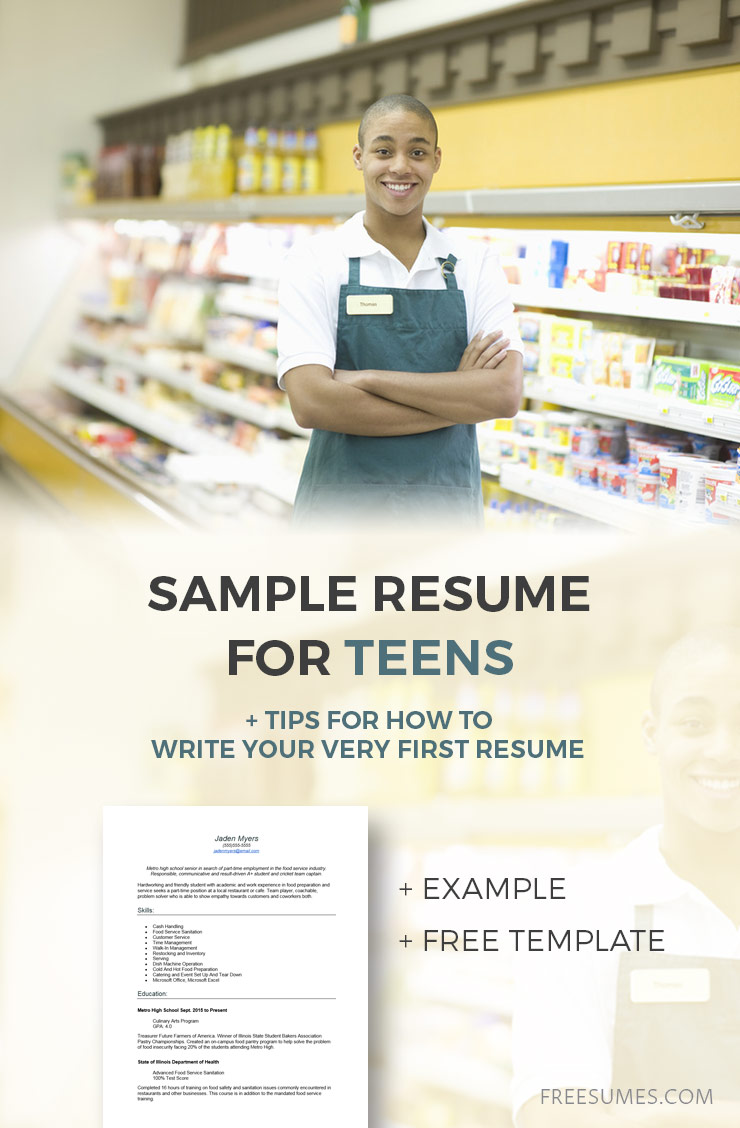 resume example for teens tips to write your first freesumes good teenager sample harvard Resume Good Resume For Teenager