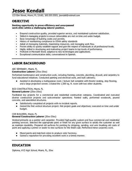 resume example in objective statement good for general samples functional builder words Resume General Resume Objective Samples