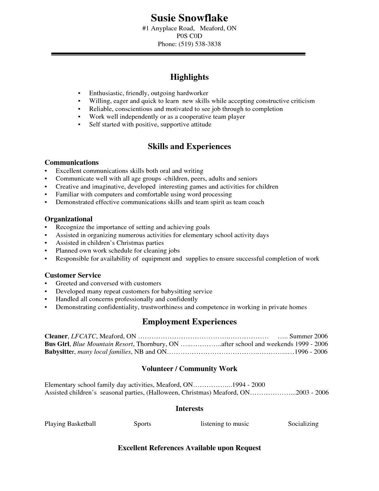 resume examples for high school students template job student summary chiropractor nandos Resume High School Student Resume Summary