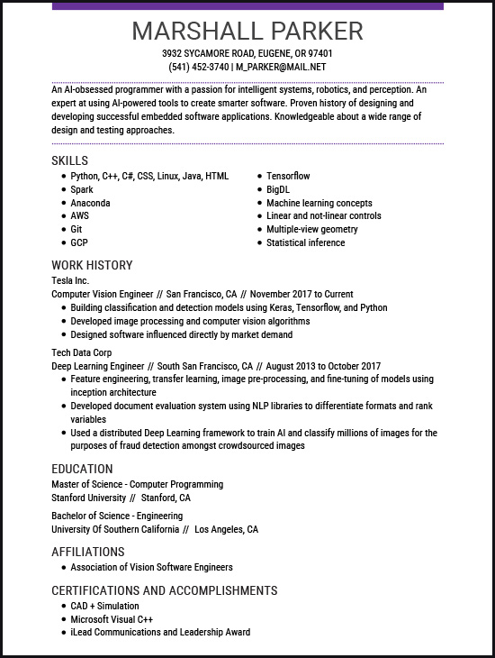 resume examples for the top gen jobs livecareer computer vision engineer mentor security Resume Computer Vision Engineer Resume