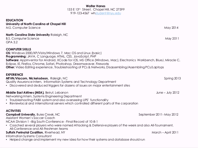resume for computer science students technical skills resumes public health inspector vpk Resume Computer Science Technical Skills Resume