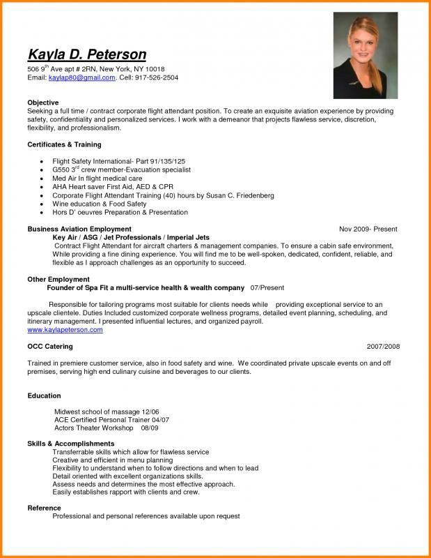 resume for flight attendant professional examples objective insurance agent caretaker Resume Flight Attendant Resume Objective