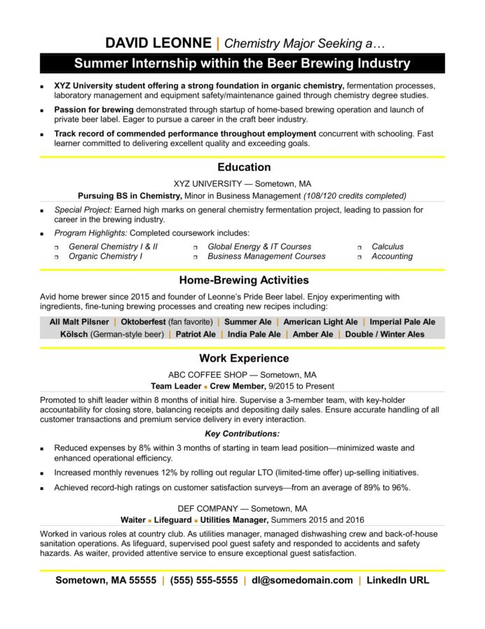 resume for internship monster skills examples order picker mcse ansible experience Resume Internship Resume Skills Examples