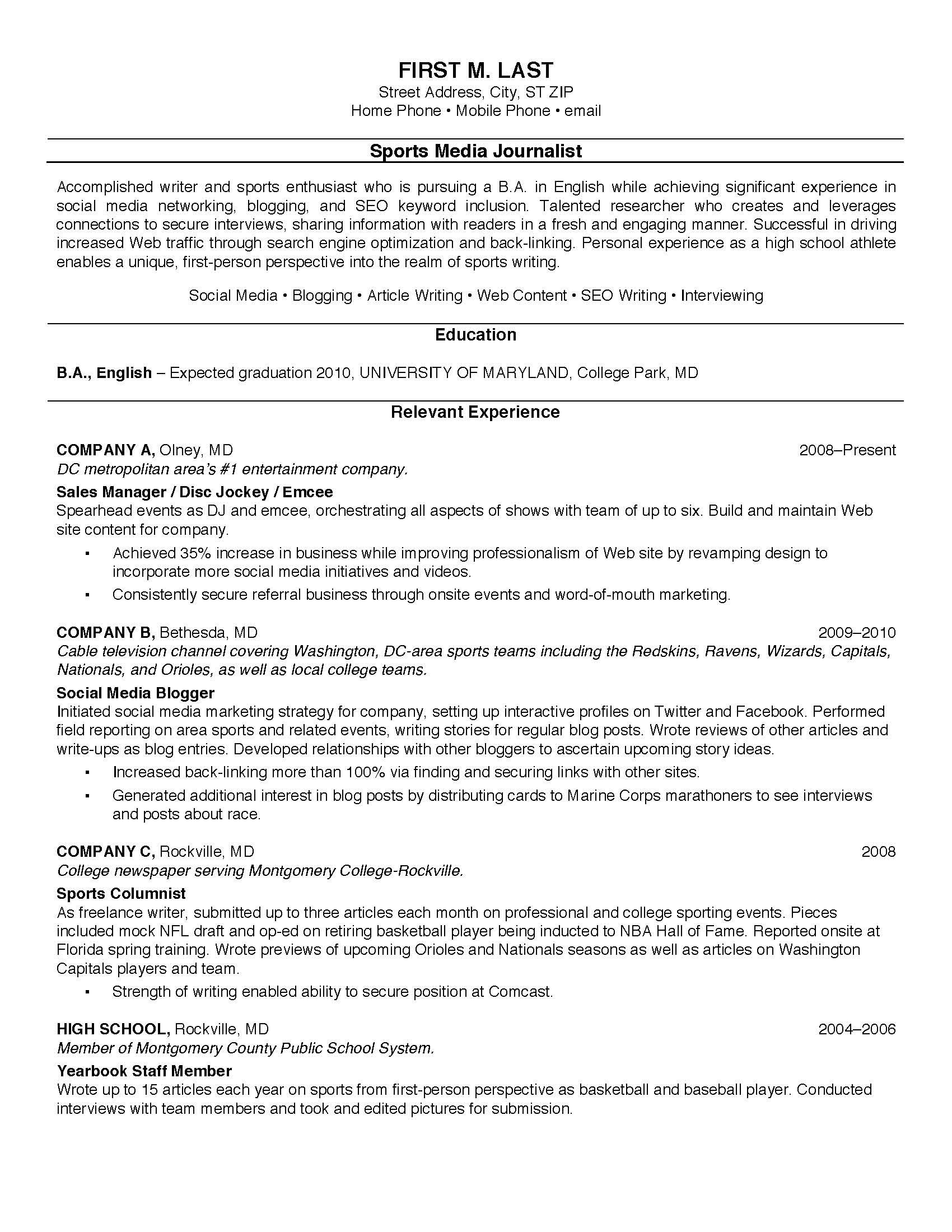 resume for recent high school graduate first year college student template templates Resume First Year College Student Resume