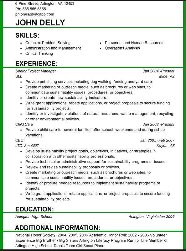 resume format and font size job examples best for profile student patient care Resume Best Font Size For Resume