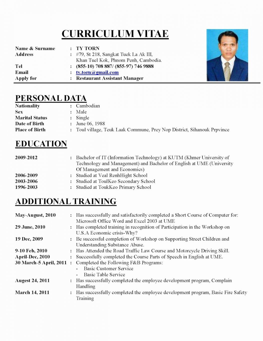 resume format examples job cv sample template example application cio of healthcare fast Resume Example Resume Application