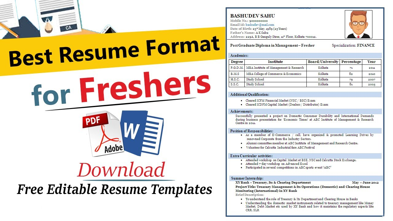 resume format for freshers best engineers effective engineering intern camera assistant Resume Effective Resume Format