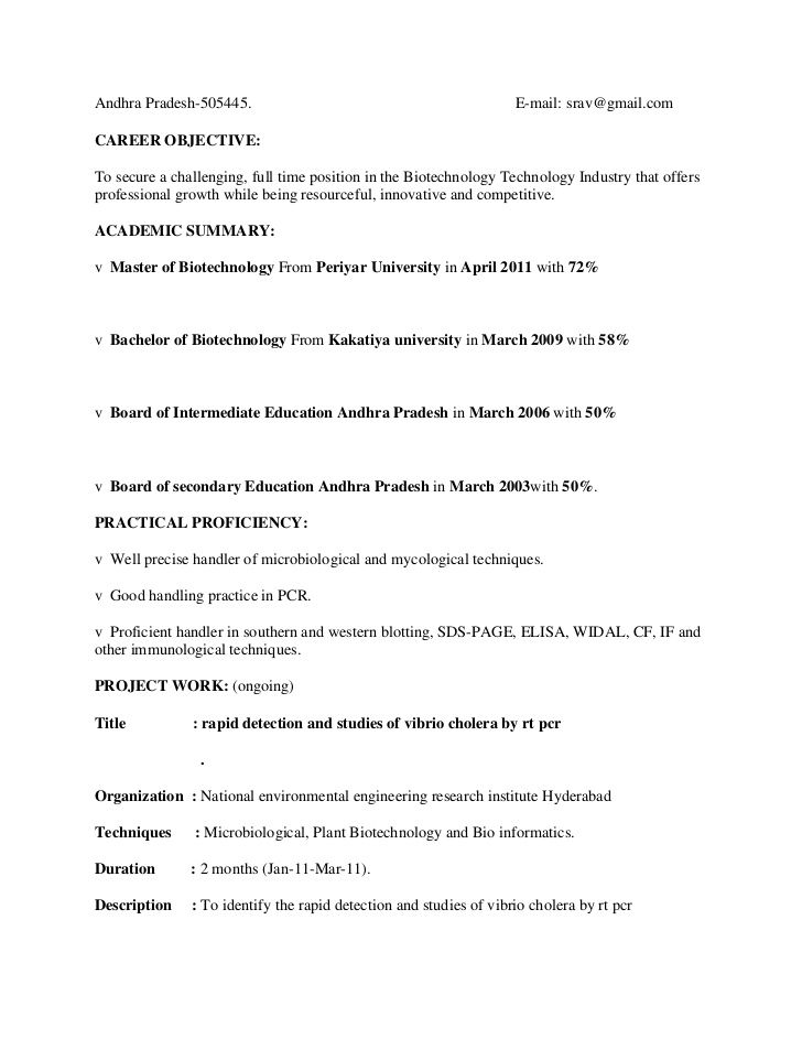 resume format for msc zoology sample templates free samples template headline Resume Resume Headline For Biotechnology