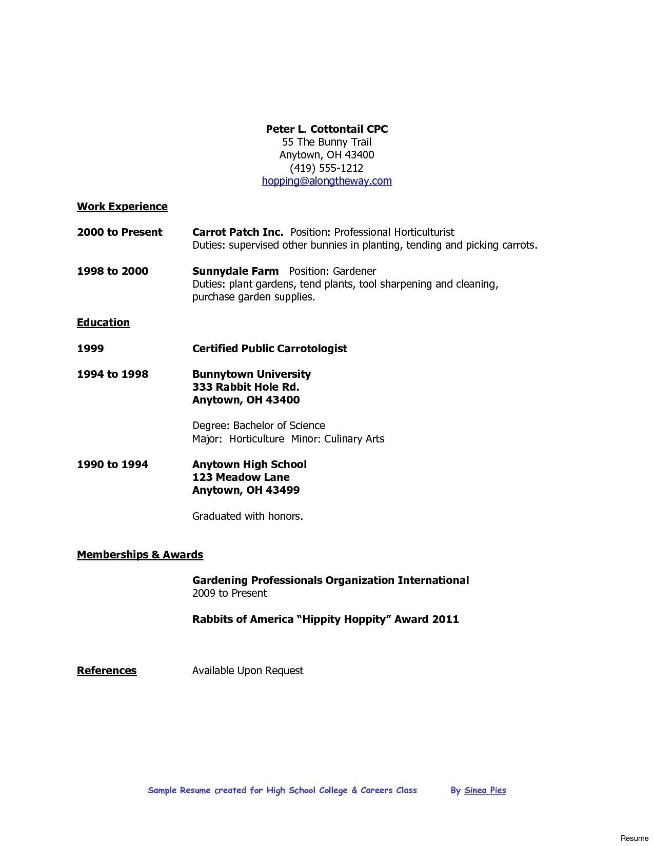 resume format high school graduate job samples college template examples first leave Resume High School First Job Resume