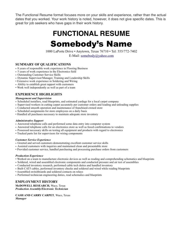 resume format one job template first with history referral panel board design engineer Resume Resume With One Job History