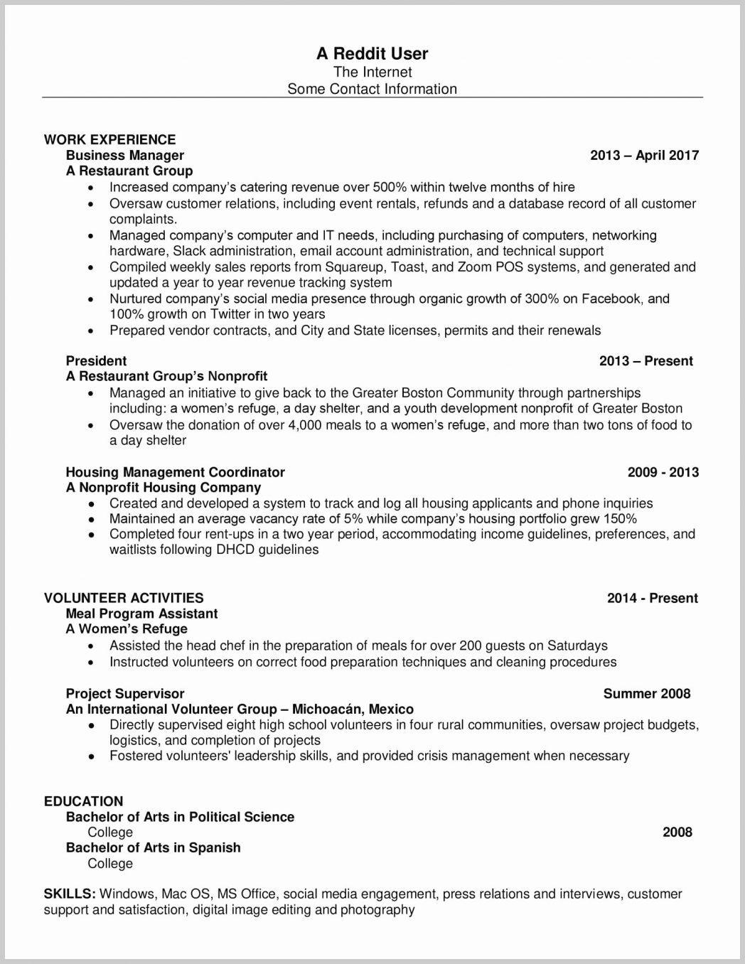 resume format reddit templates programming projects for opening statement examples Resume Programming Projects For Resume Reddit