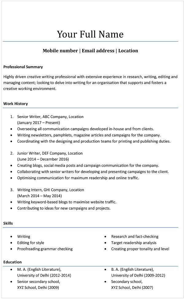 resume formats choose the one that right for you monsterindia indian fashion designer Resume Indian Fashion Designer Resume