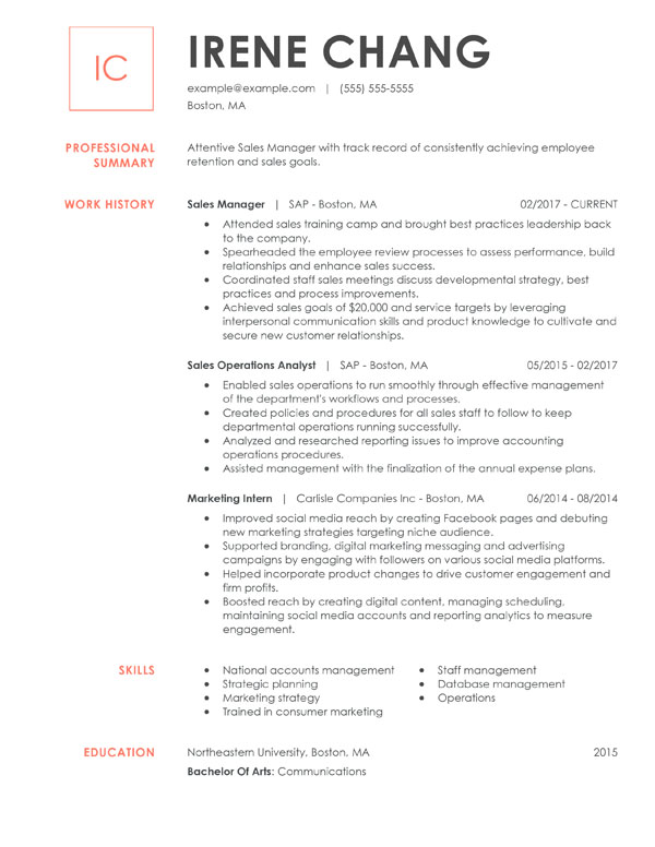 resume formats guide my perfect best format for chronological manager professional Resume Best Format For Resume 2020