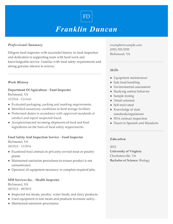 resume formats guide my perfect best format for work history combination food inspector Resume Best Resume Format For Long Work History