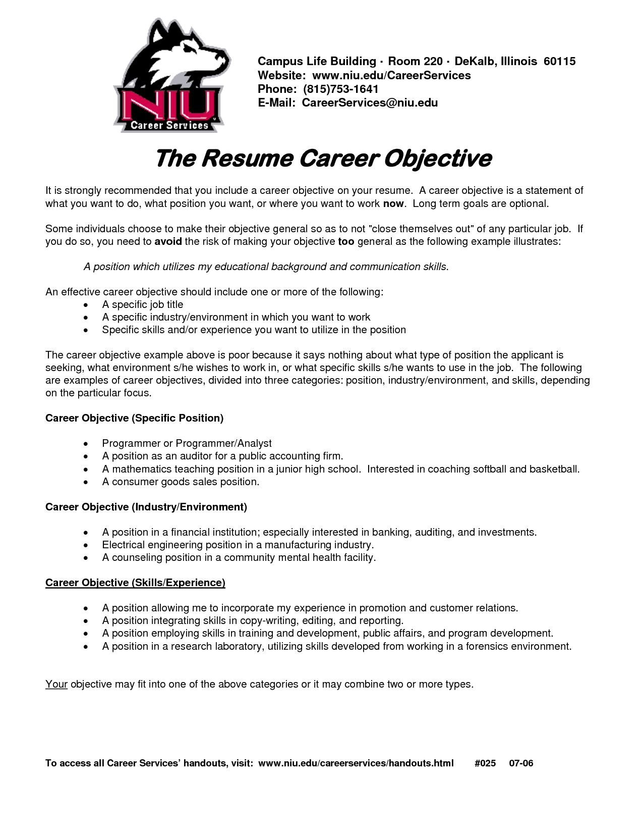 resume job goals examples objective for any career general proven tips good relationship Resume Good General Resume Objective Examples