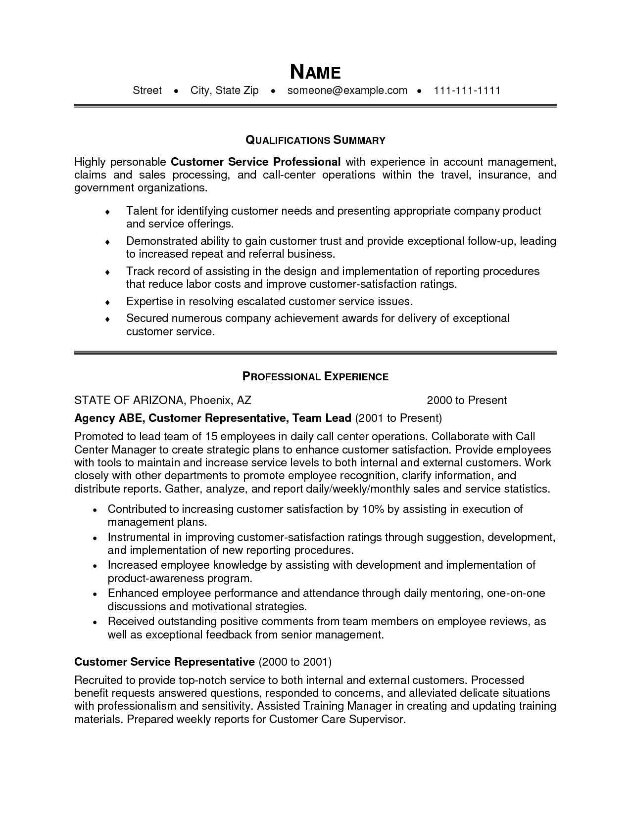 resume marvelous career summary examples for photo inspirations professional along with Resume Customer Service Resume Overview