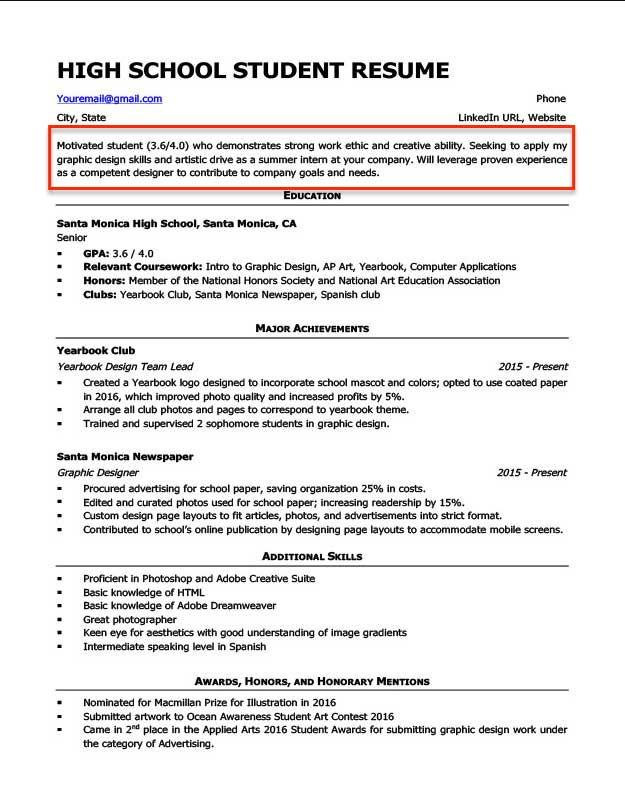 resume objective examples for students and professionals good career statement high Resume Good Career Objective Statement For Resume