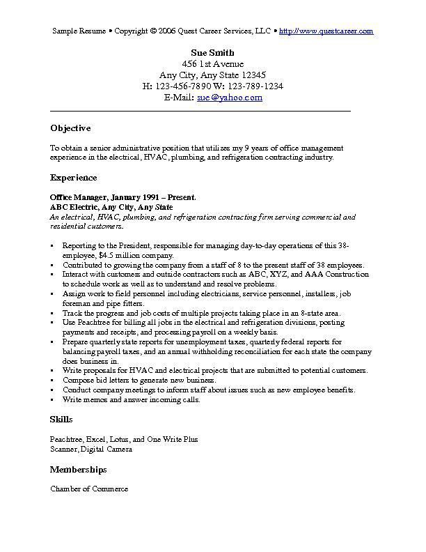 resume objective examples statement good for general samples pittsburgh assistant manager Resume General Resume Objective Samples
