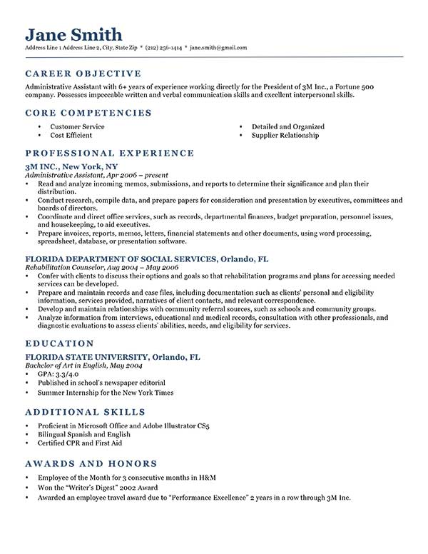 resume objective samples ipasphoto general template neoclassic dark blue fresher Resume General Resume Objective Samples