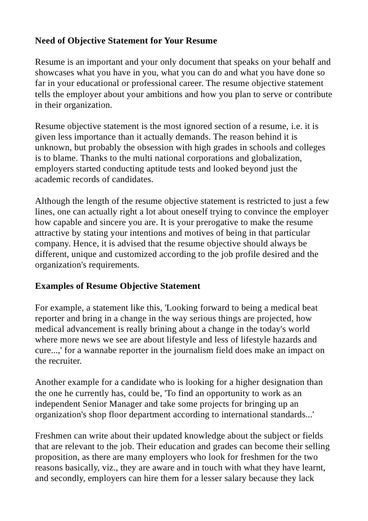 resume objective statement tips professional examples functional example selenium Resume Professional Resume Objective Statement Examples