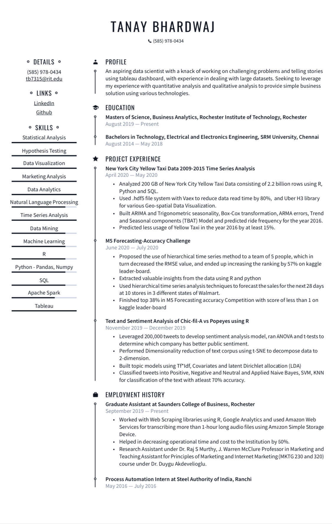 resume review blind data science project manager sample free edit experienced audit Resume Data Science Resume Review