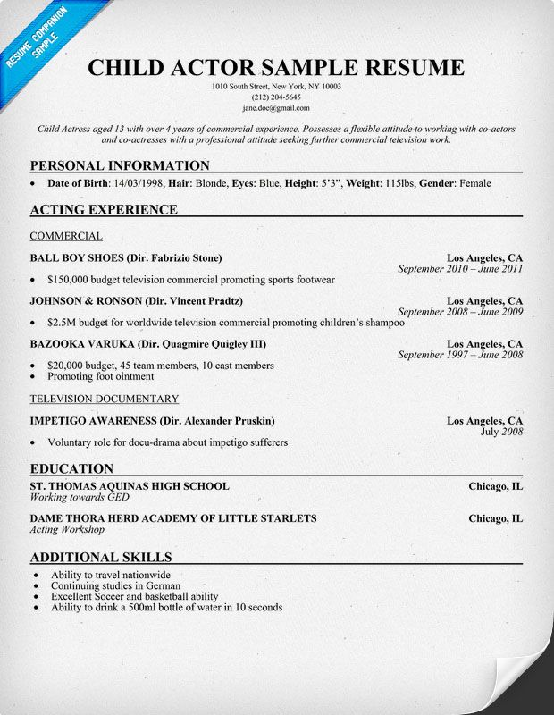 resume samples and to write companion acting template sample casting call center customer Resume Casting Call Resume Sample