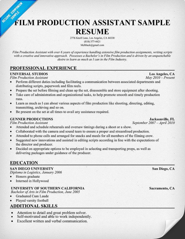 resume samples and to write companion examples sample manager film industry format Resume Film Industry Resume Format